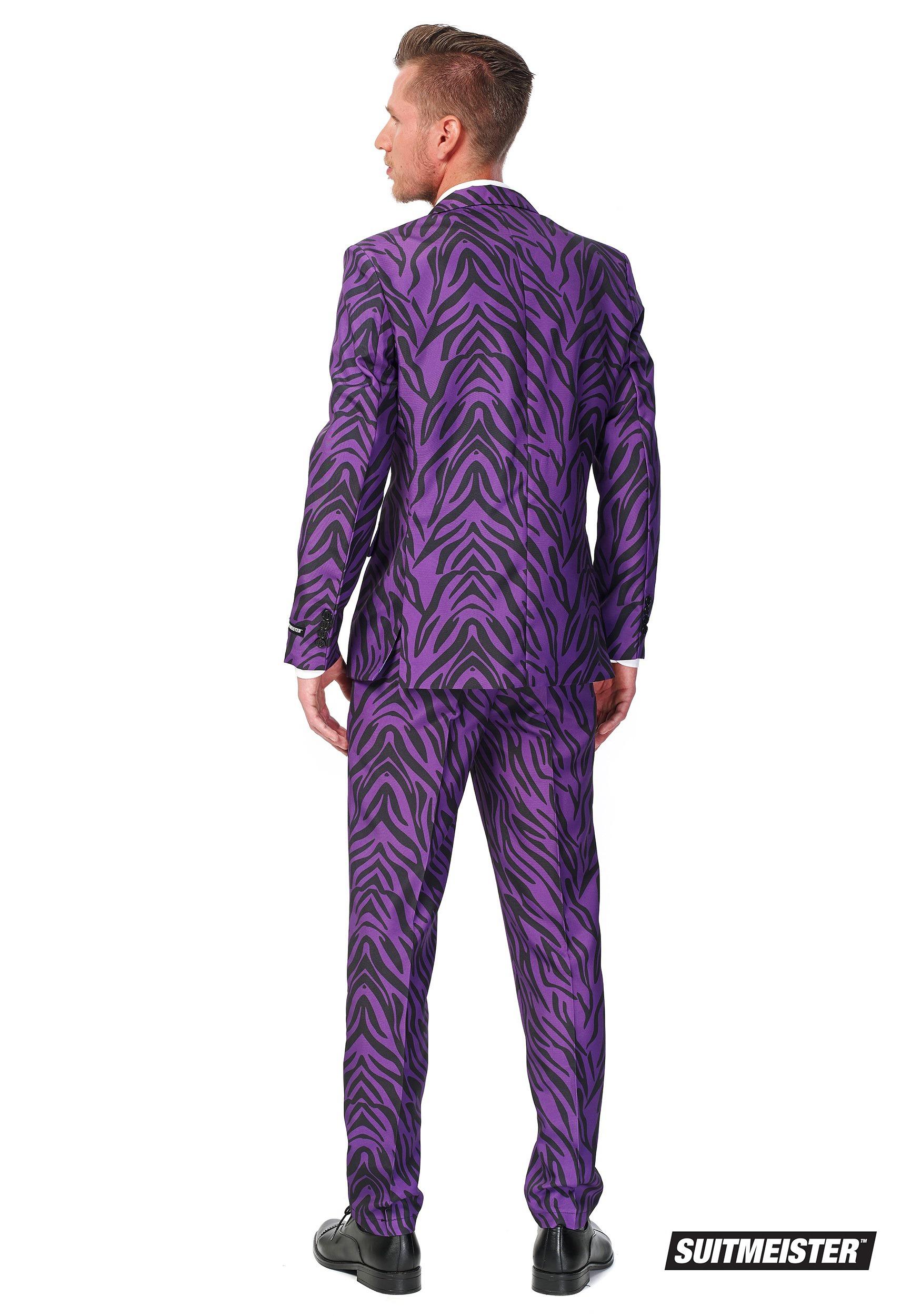 Suitmeister Basic Pimp Tiger Suit Costume For Men