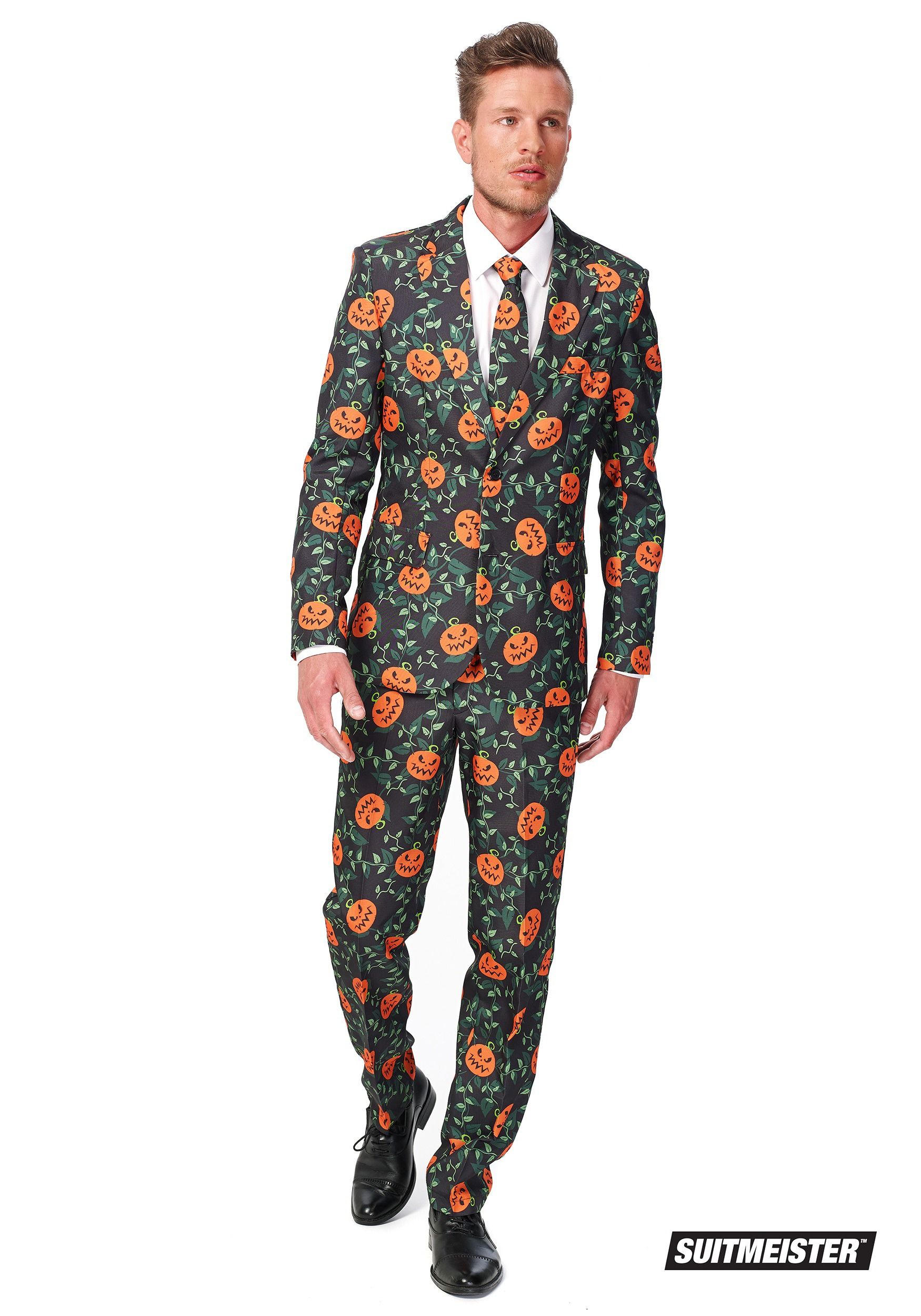 suitmeister basic pumpkin suit costume for men. Black Bedroom Furniture Sets. Home Design Ideas
