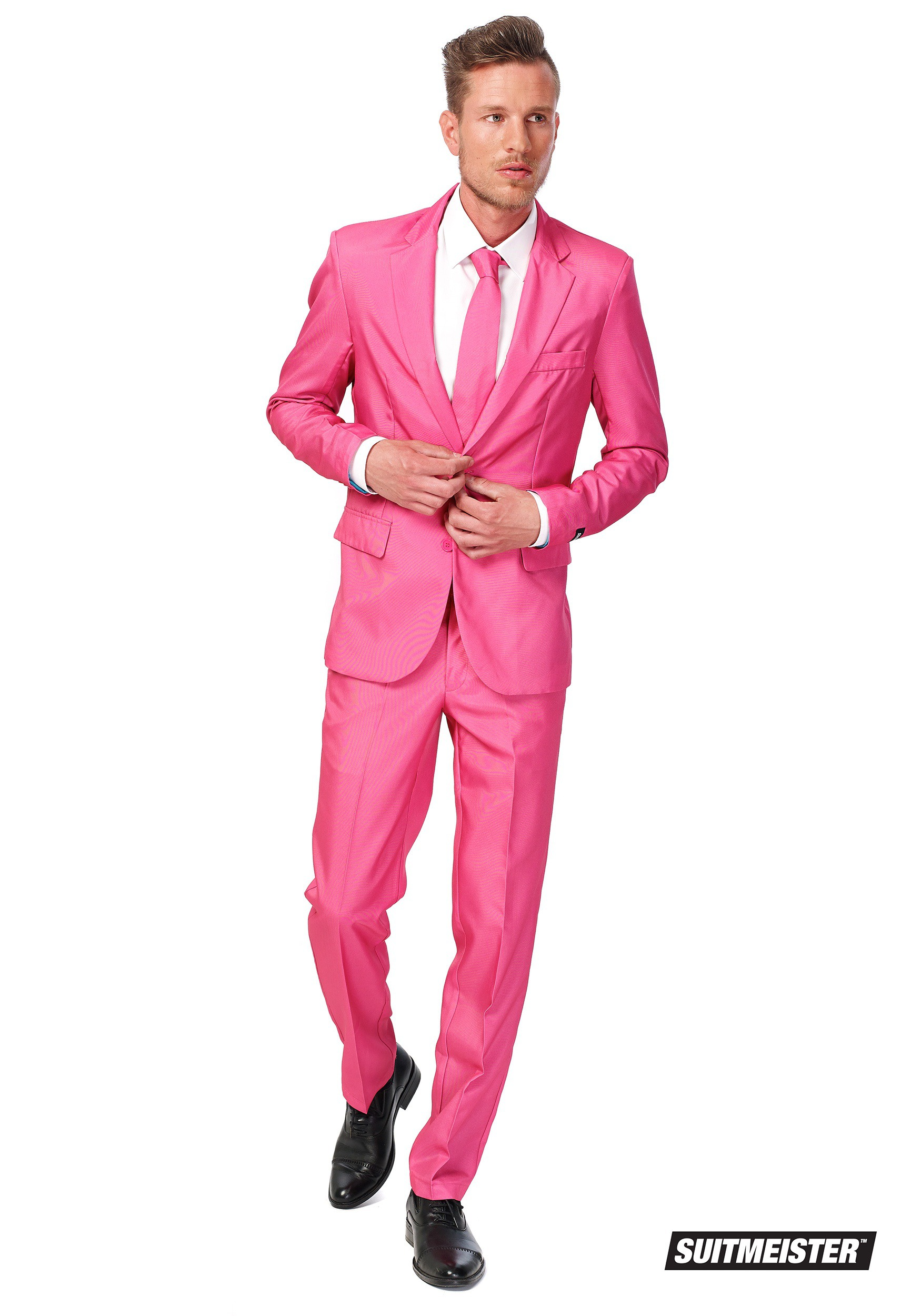 Suitmeister Basic Pink Suit Costume For Men