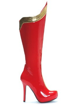 Red and Gold Sexy Superhero Boots