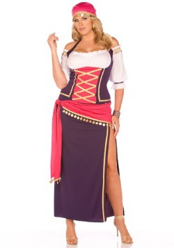 Plus Size Fortune Teller Maiden Costume for Women
