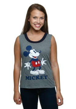 Mickey Mouse Classic Pose Ringer Muscle Tank Top