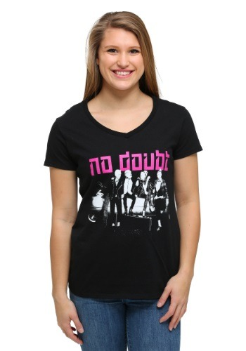 No Doubt Group Shot on Car T-Shirt for Women