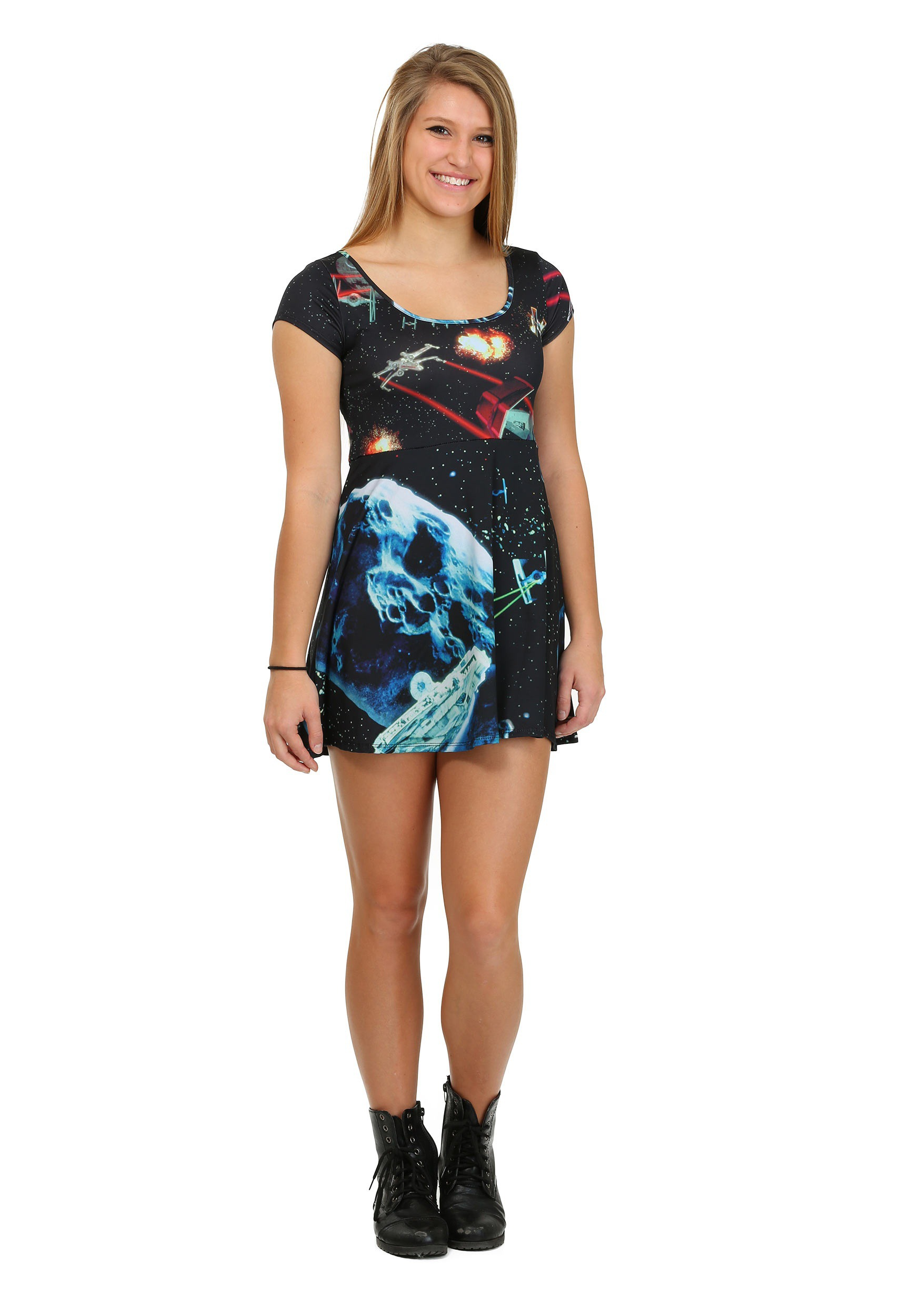 Womens Star Wars Starfighters Sublimated Skater Dress MFA6827JPG1S