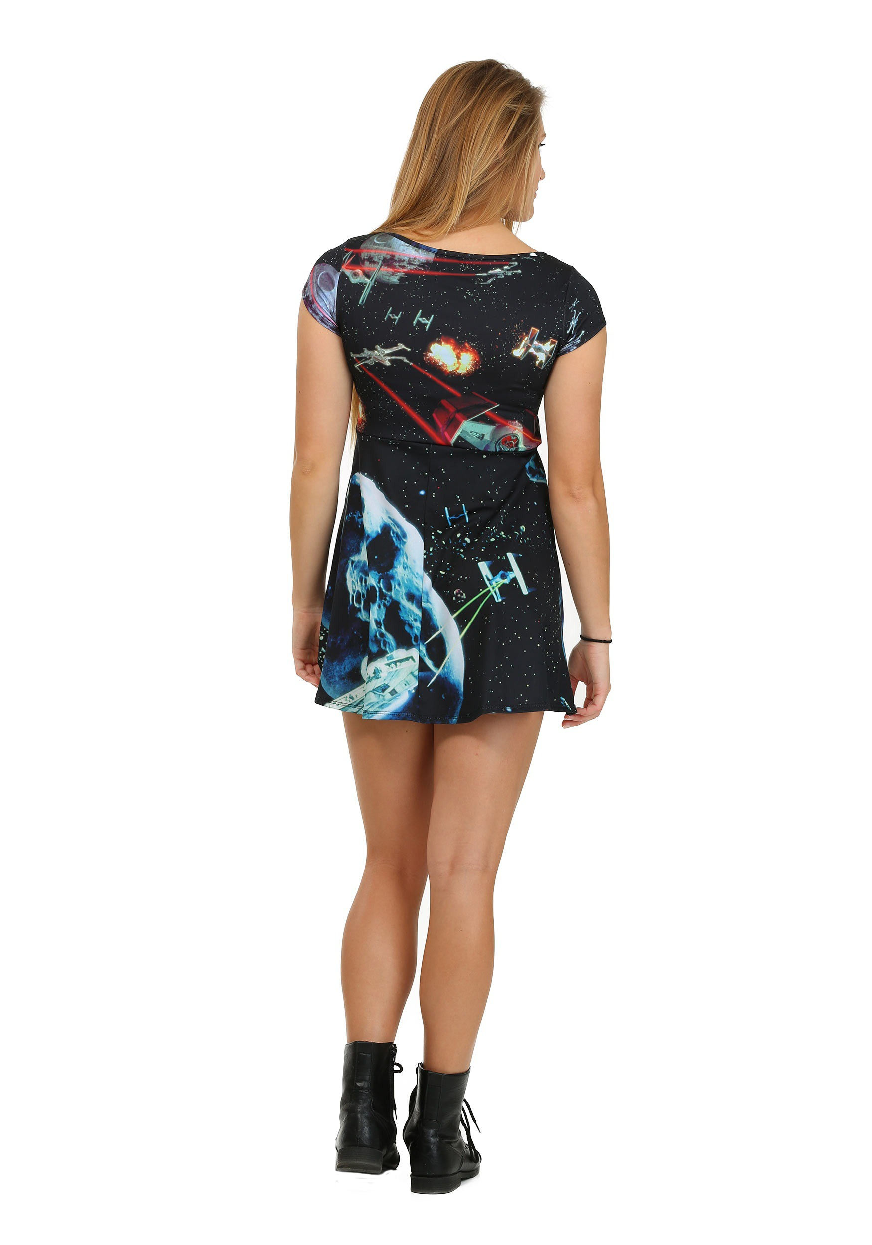 Womens Star Wars Starfighters Sublimated Skater Dress 287ccec2e