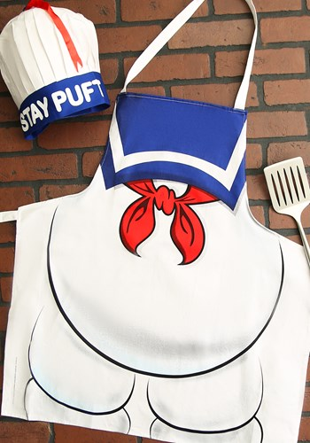 Ghostbusters Stay Puft Apron and Chef Hat Set Update