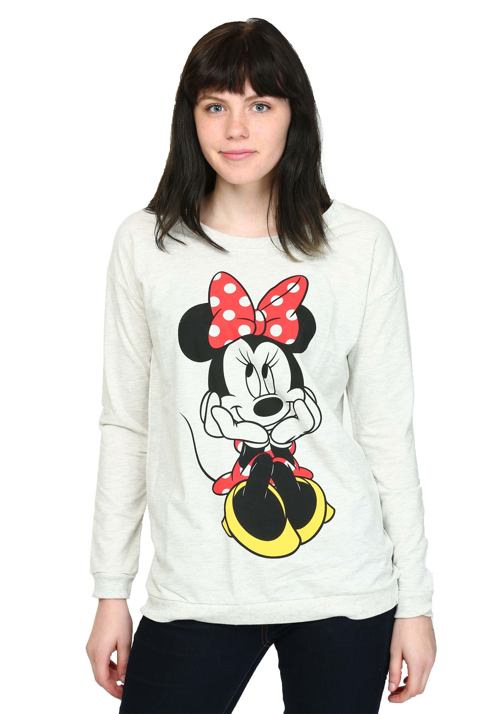 Womens Minnie Mouse Sweet Sit French Terry Pullover