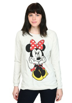 Minnie Mouse Sweet Sit Juniors French Terry Shirt