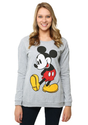 Mickey Mouse Classic Stance French Terry Long-Sleeved Tee