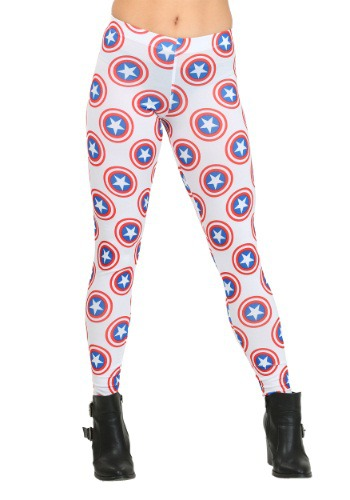 Women's Captain America All Over Shields Leggings