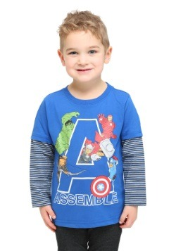 Avengers Assemble Long Sleeve Toddler Shirt