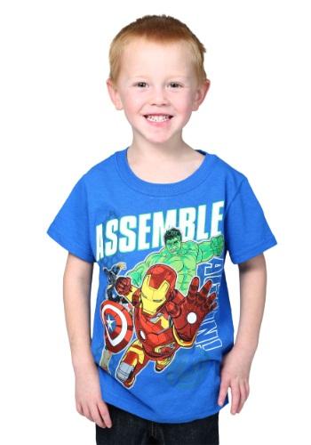 Avengers Group Shot Blue Toddler Shirt