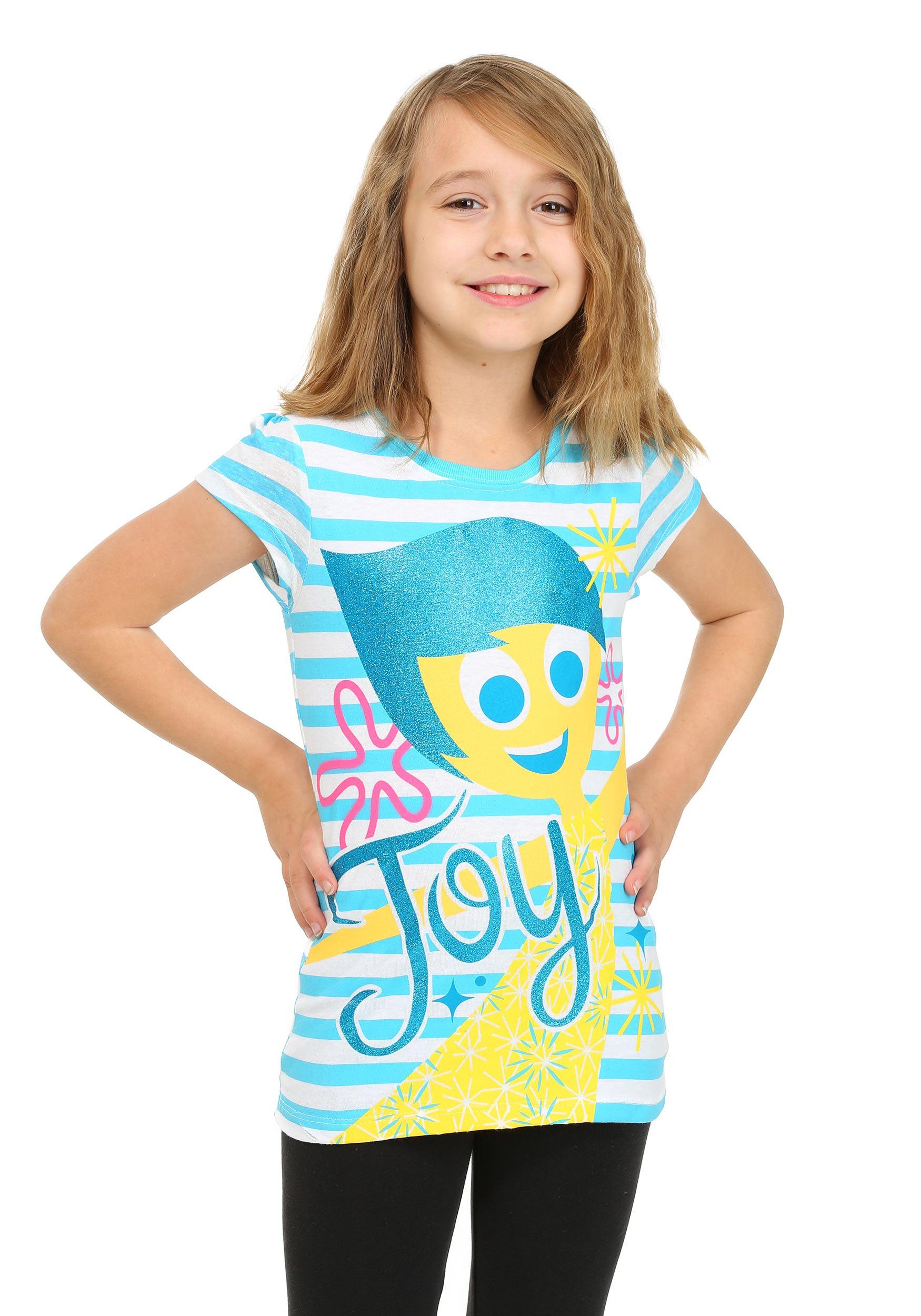 Girls Inside Out Joy Striped Shirt CAPXPB9612FSTK