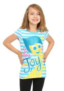 Girls Inside Out Joy Striped Shirt