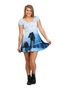 Star Wars Pew Pew AT-AT Juniors Skater Dress