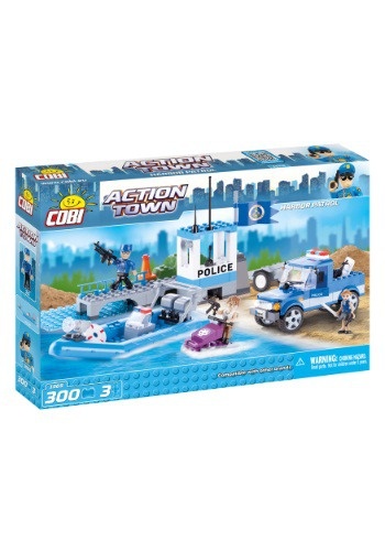 Police Harbor Patrol Construction Set