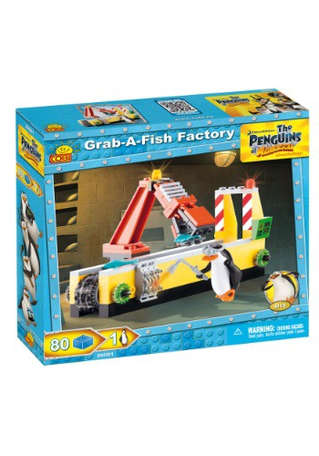 Penguins of Madagascar Grab a Fish Factory Construction Set