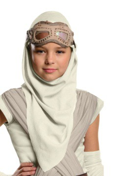 Child Star Wars Episode 7 Rey Eye Mask w/Hood