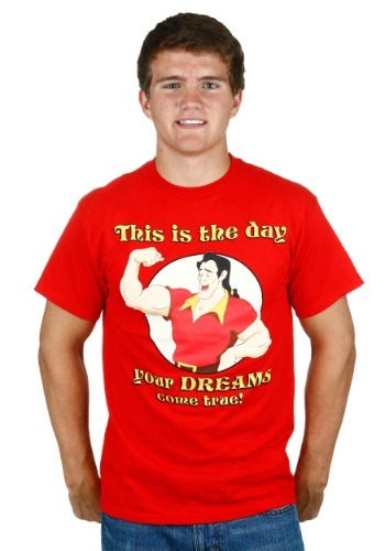 Mens Beauty The Beast Gaston Dreams Come True T Shirt