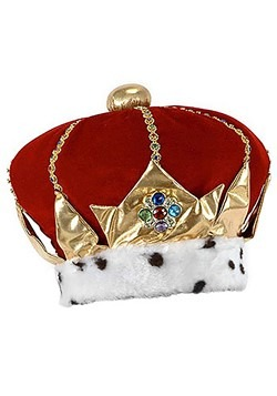 Royal Red King Plush Crown