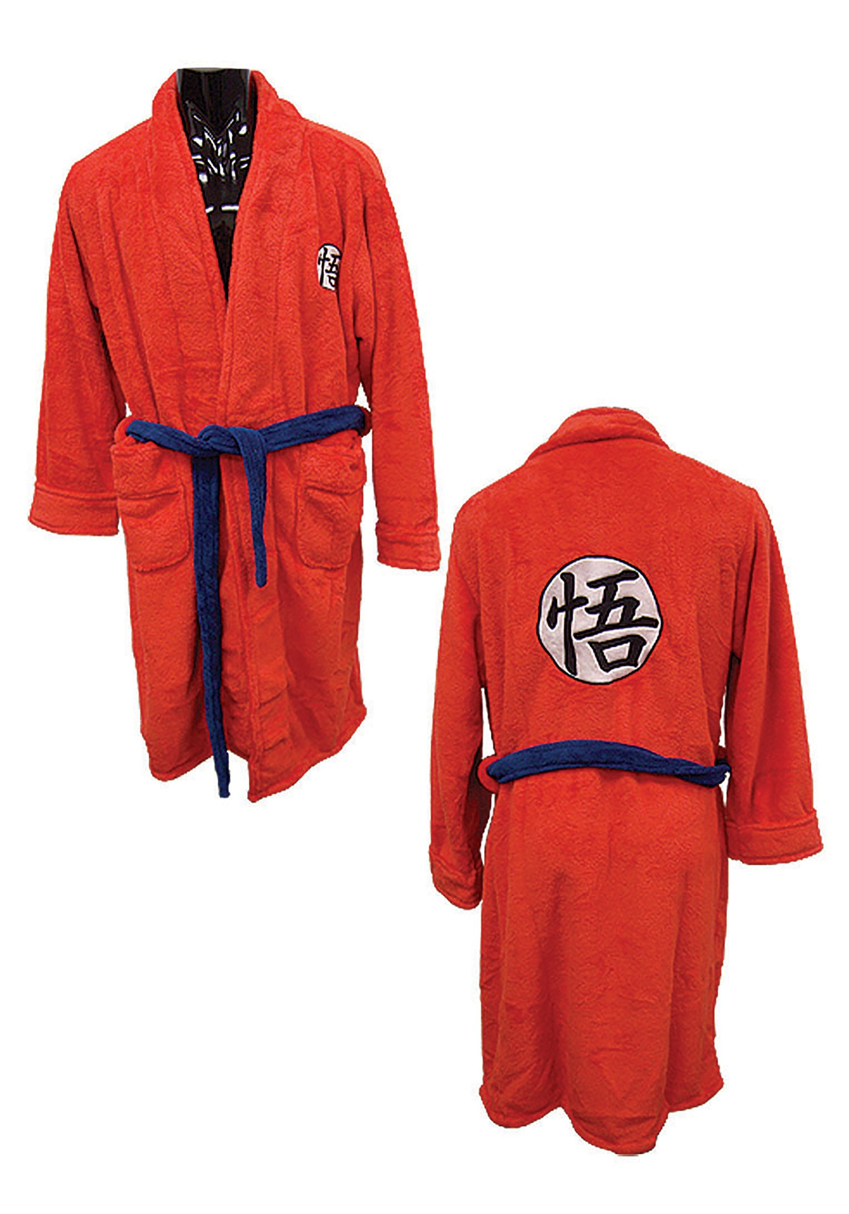 Dragon ball z goku bath robe for Dragon ball z bathroom