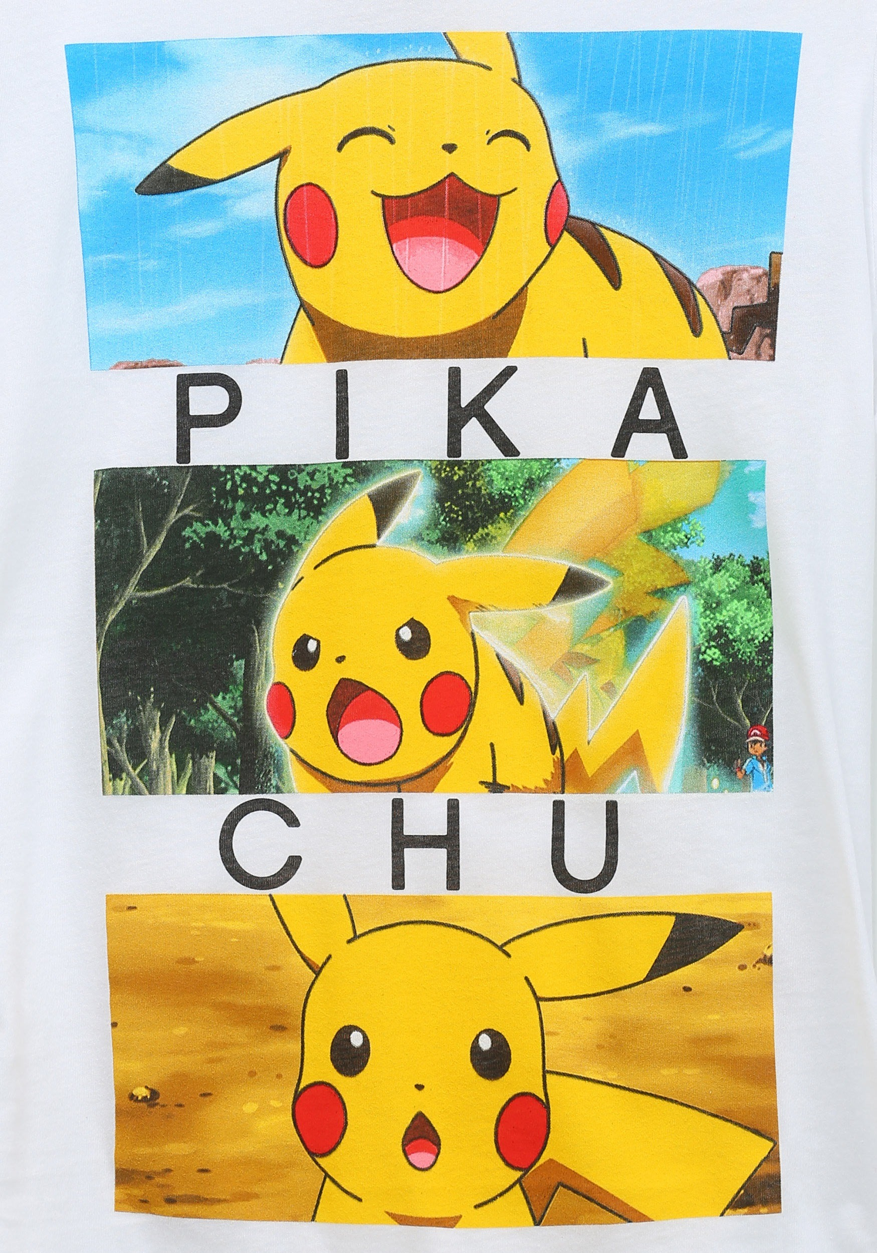 Womens Pokemon Pikachu Emotion Boxes T Shirt