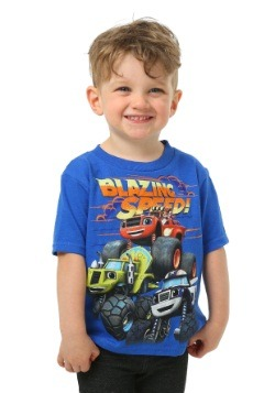 Toddler Boys Blaze And The Monster Trucks Group Shot T-Shirt