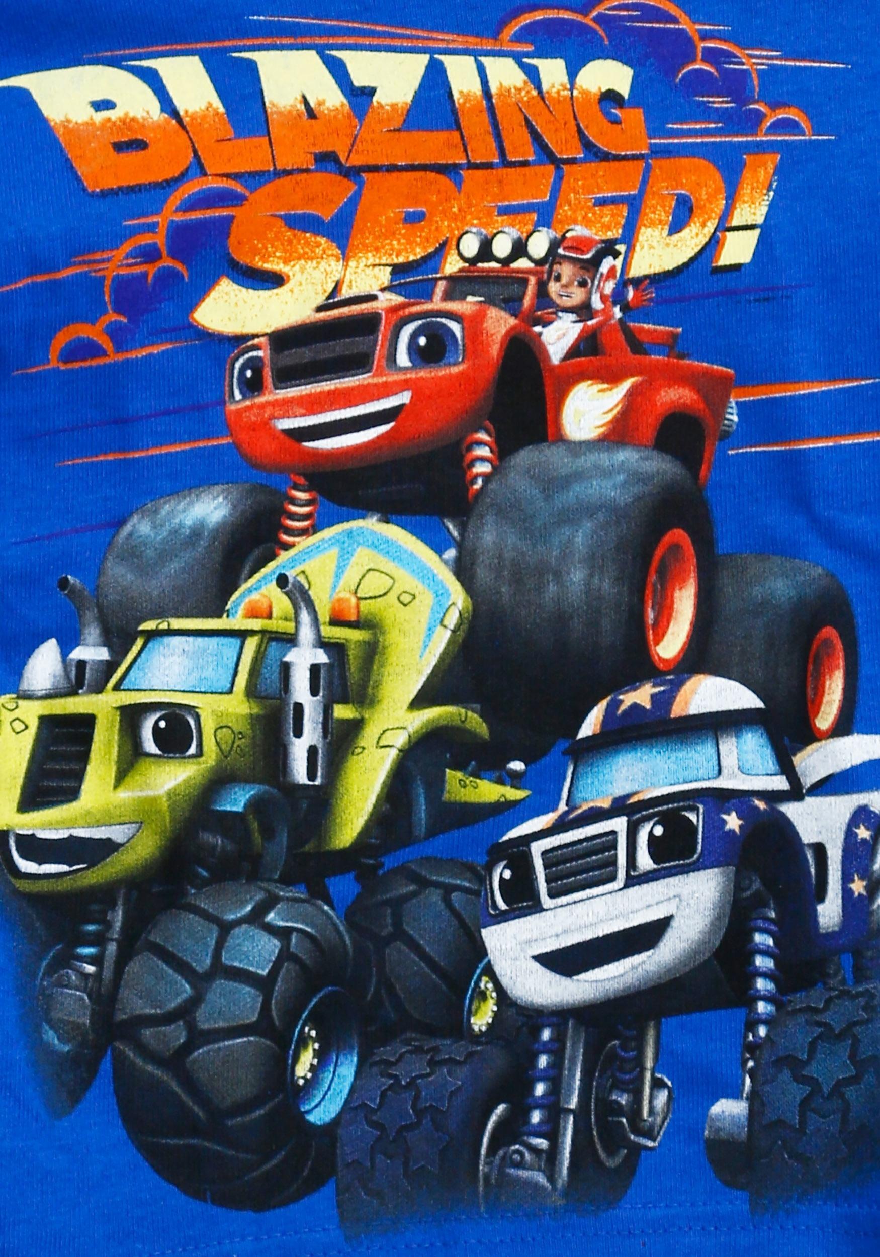 Monster Trucks For Sale >> Toddler Boys Blaze And The Monster Trucks Group Shot T-Shirt