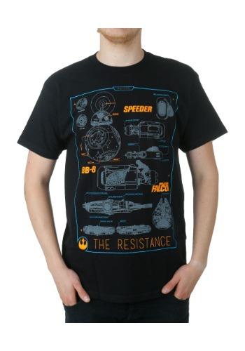 Star Wars 7 Vehicle Schematics T-Shirt MFDG219A31S