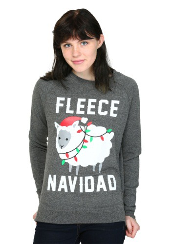 Fleece Navidad French Terry Pullover Juniors