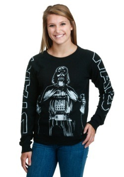 Women's Star Wars Vader Pose Vintage Sleeve Pullover