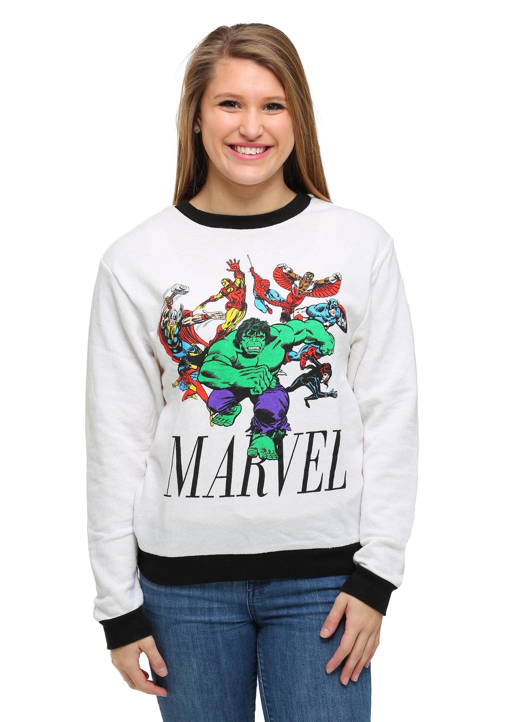 Womens Marvel Avengers Hulk Run Ringer Pullover FZRVSJS71