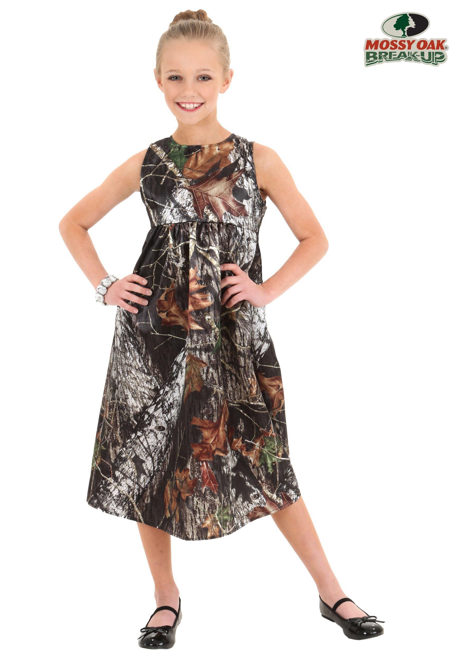 Child Mossy Oak Flower Girl Dress Costume