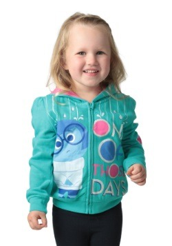 Inside Out One of Those Days Girls Toddler Hooded Sweatshirt