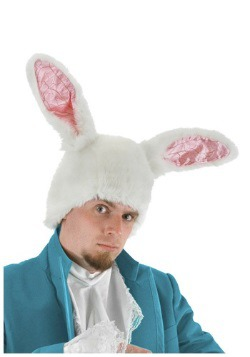 White Rabbit Plush Ears Hat