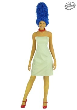 Ladies Marge Costume With Wig