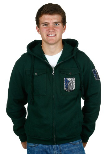 Attack On Titan Chest Pocket Hoodie Scout Regiment