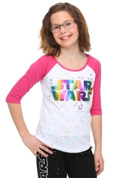 Star Wars Rainbow Foil Tween Raglan Shirt