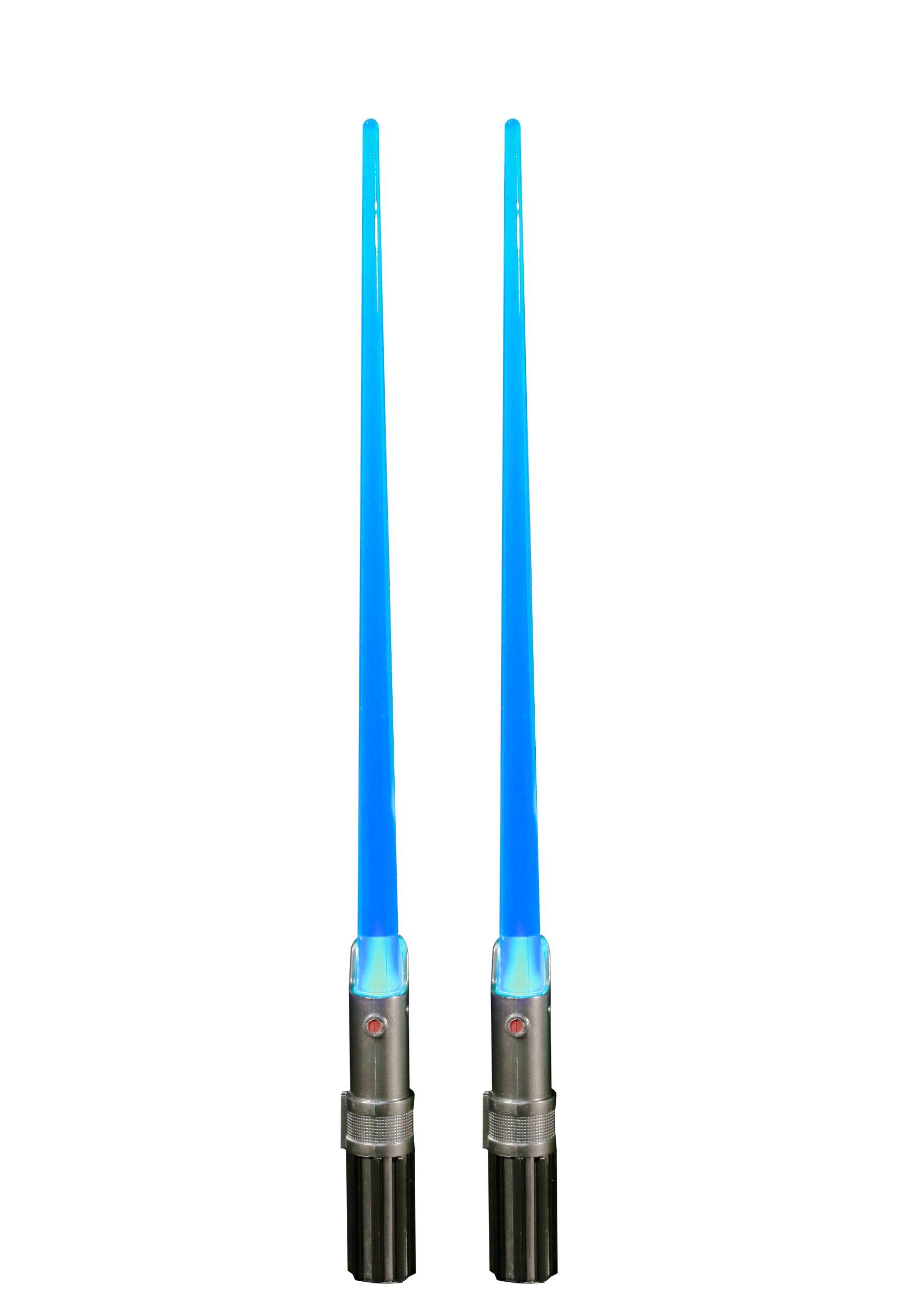 Star Wars Blue Luke Skywalker Light Up Chopsticks KOGZ826