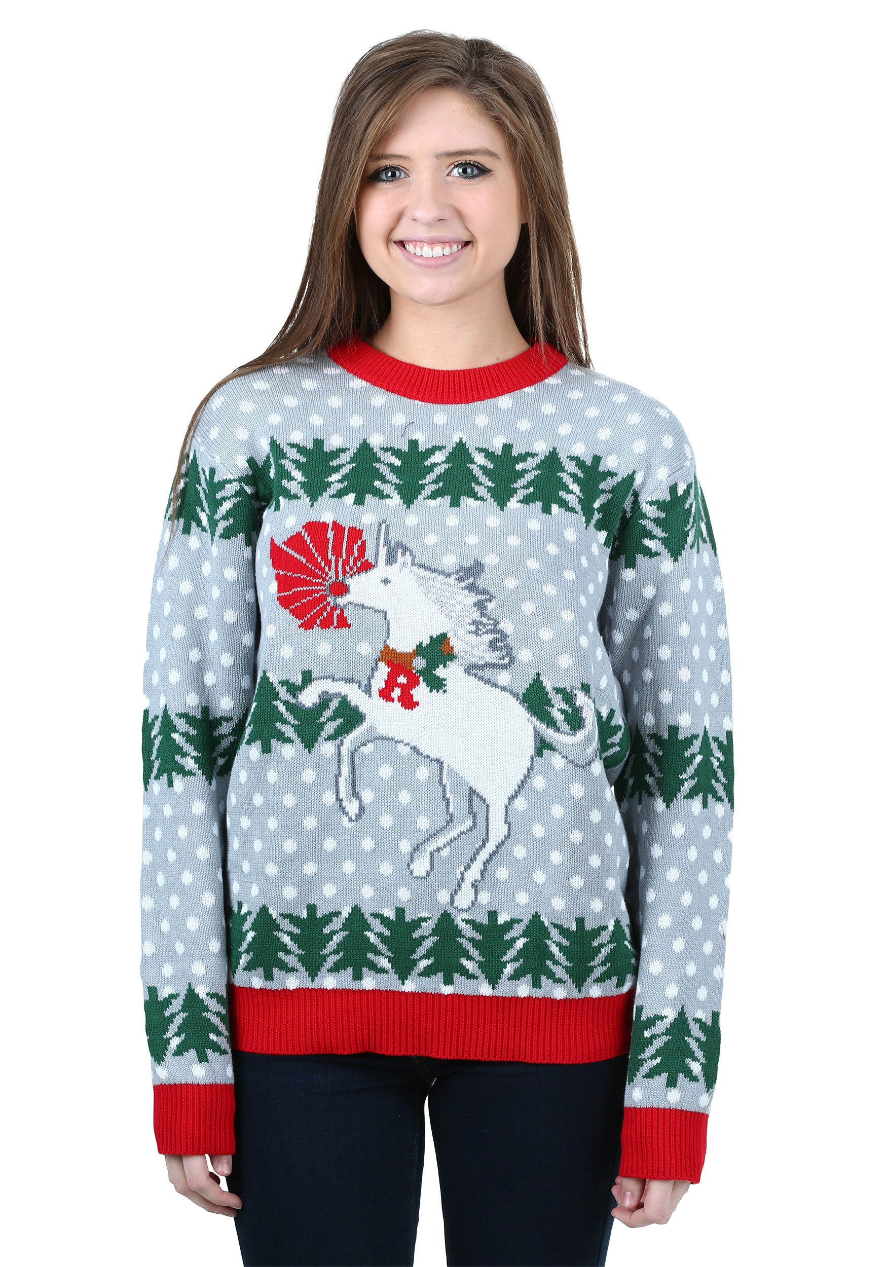 In all seriousness, all of our women's ugly Christmas sweaters, from our Star Wars sweaters, to our 3D ugly Christmas sweaters Harry Potter ugly holiday sweaters, our Deadpool ugly Christmas sweaters are all unisex but look especially great on women.
