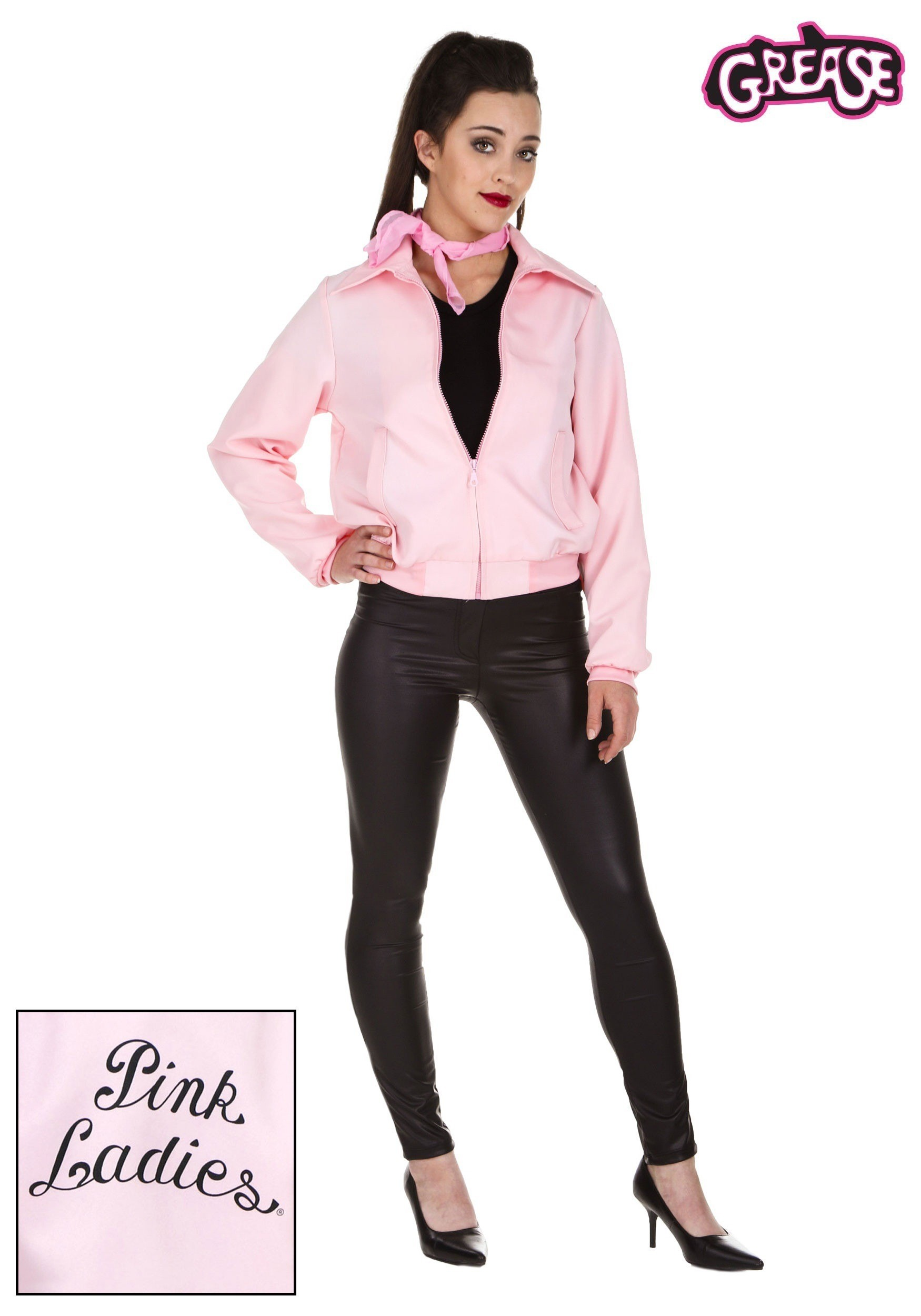 Deluxe Pink Ladies Jacket Costume For Plus Size