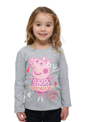 Toddler Peppa Pig Twinkle Toes Long Sleeve Shirt