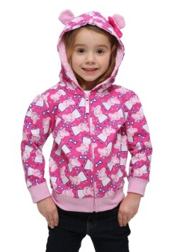 Toddler Peppa Pig 3D Ears Hooded Sweatshirt