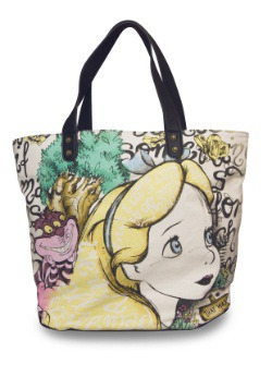 Alice in Wonderland Disney Canvas Tote