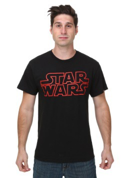 Star Wars Classic Logo Red Outline T-Shirt