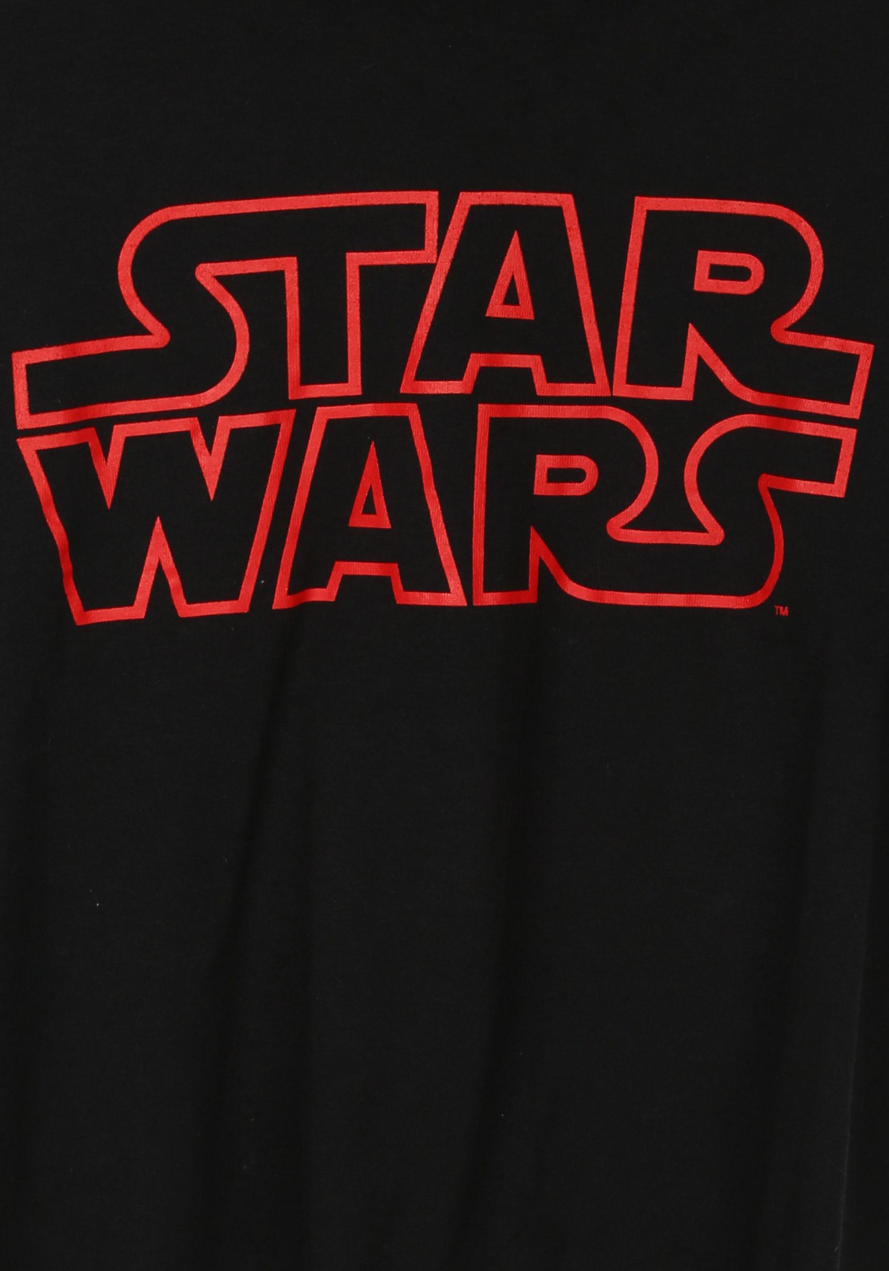 star wars classic logo red outline tshirt