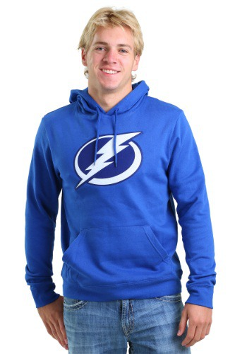 Mens Tampa Bay Lightning Tek Patch Logo Hoodie MJM09917462GK7BH