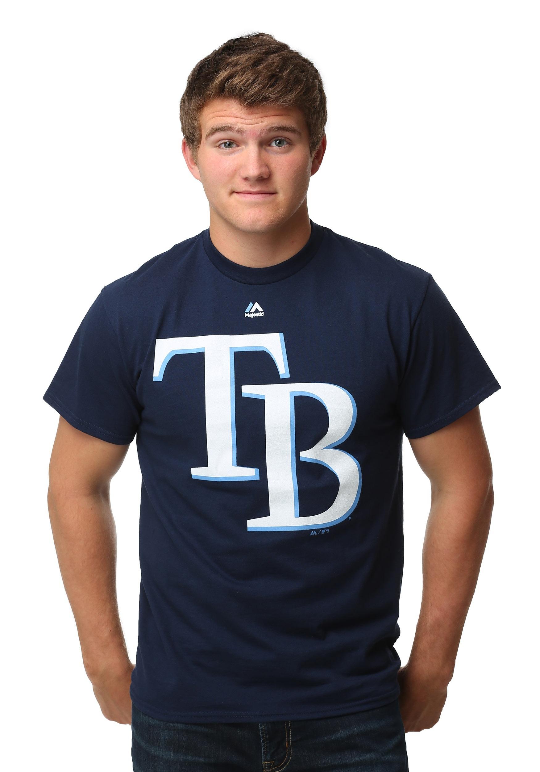 Tampa Bay Rays Official Logo Men's T-Shirt MJM9524506RAYE8C
