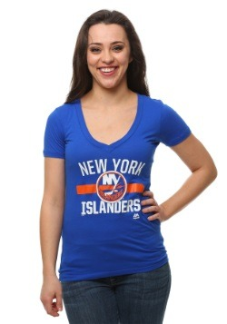 Womens New York Islanders One Game At a Time T-Shirt
