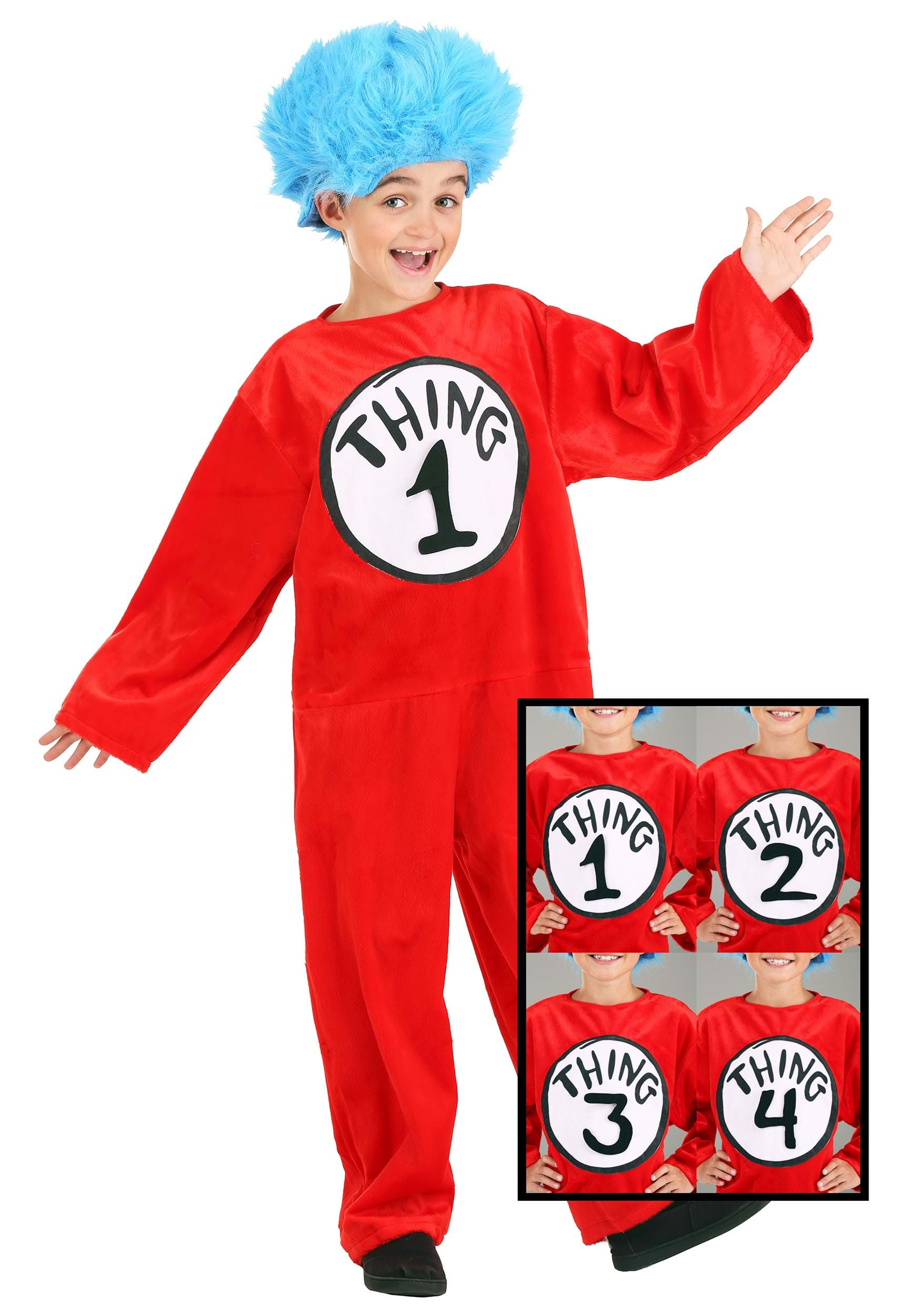 Kids Dr Seuss Thing 1 or 2 Costume aea9f2604